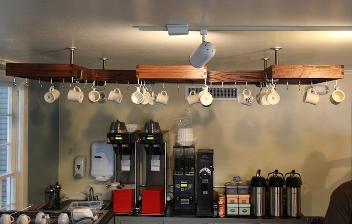 hanging mug rack
